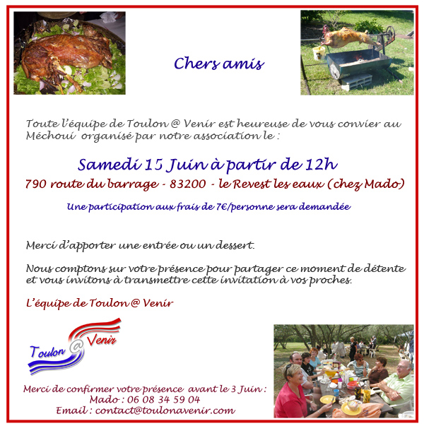 Méchoui de Toulon @ Venir – 15 Juin 2013