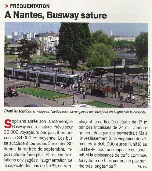 Ville et Transports : à Nantes le BHNS sature