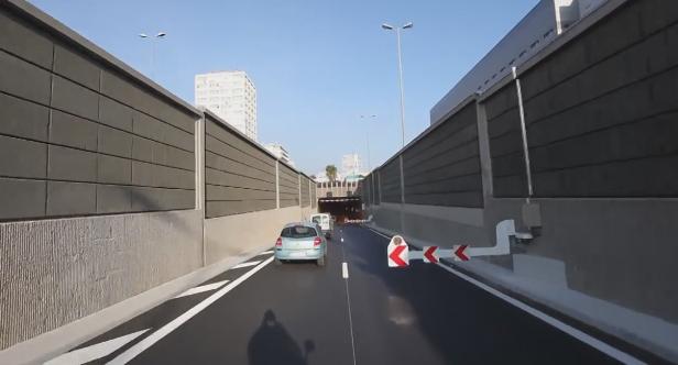 Régulation accès fermeture une voie du 2e tube 2