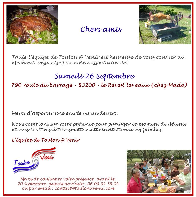 Méchoui de Toulon @ Venir – Samedi 26 Septembre 2015 au Revest