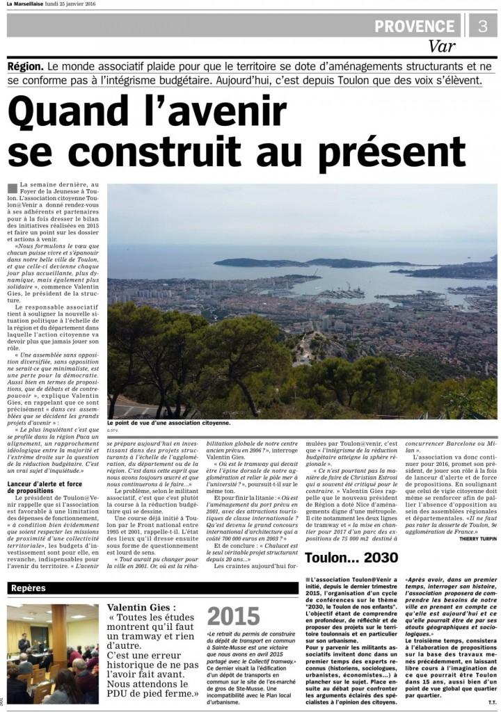 2016-01-25 La Marseillaise - Quand l avenir se construit au present