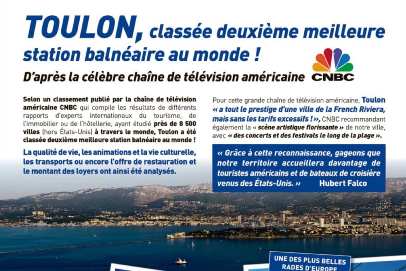 Toulon, deuxième sur 8 500 villes au monde ?   Cherchez l'erreur !